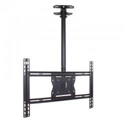 Кронштейн для телевизора Kromax COBRA-4 черный 15 -75 макс.65кг потолочный поворот и наклон