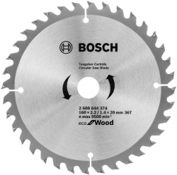 Пильный диск по дереву Bosch 2608644374 d=160мм d(посад.)=20мм (циркулярные пилы)