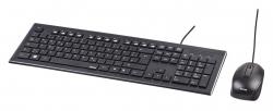 Клавиатура + мышь Hama Cortino черный проводная