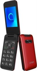 Мобильный телефон Alcatel 3025X красный раскладной 1Sim 2.8