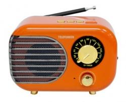 Радиоприемник настольный Telefunken TF-1682B оранжевый/золотистый