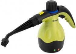 Пароочиститель ручной Kitfort KT-950 черный/желтый