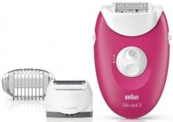 Эпилятор Braun SE3273 скор.:2 насад.:1 от электр.сети розовый/белый