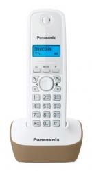 Р/Телефон Dect Panasonic KX-TG1611RUJ бежевый/белый АОН