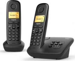 Р/Телефон Dect Gigaset A270 DUO RUS черный (труб. в компл.:2шт) АОН