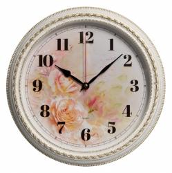 Часы настенные аналоговые Бюрократ WallC-R64P D29см белый