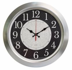 Часы настенные аналоговые Бюрократ WallC-R67P D39см серебристый