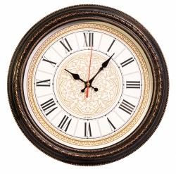 Часы настенные аналоговые Бюрократ WallC-R68P D29см коричневый