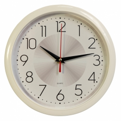 Часы настенные аналоговые Бюрократ WallC-R69P D22см белый