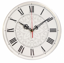 Часы настенные аналоговые Бюрократ WallC-R70P D25см белый
