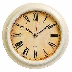 Часы настенные аналоговые Бюрократ WallC-R74P D21см слоновая кость