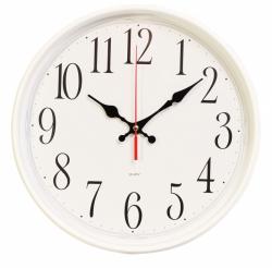 Часы настенные аналоговые Бюрократ WallC-R75P D29см белый