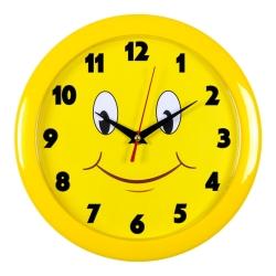 Часы настенные аналоговые Бюрократ WALLC-R81P D23см желтый