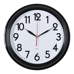 Часы настенные аналоговые Бюрократ WALLC-R86P D35см черный/белый