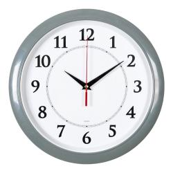 Часы настенные аналоговые Бюрократ WALLC-R89P D29см серый/белый