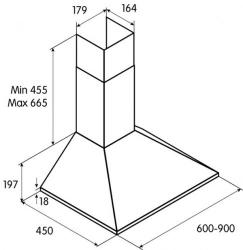 Вытяжка каминная Jet Air Gaia AN/A/60 антрацит