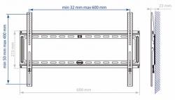 Кронштейн для телевизора Kromax IDEAL-1 черный 32 -90 макс.55кг настенный фиксированный