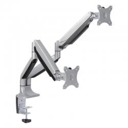 Кронштейн для мониторов Arm Media LCD-T32 серебристый 15 -32 макс.18кг настольный поворот и наклон верт.перемещ.