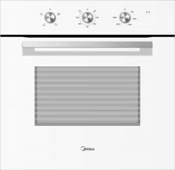Духовой шкаф Электрический Midea MO23001GW белый/нержавеющая сталь