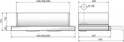 Вытяжка встраиваемая Elikor Интегра Glass 50Н-400-В2Д нержавеющая сталь/стекло бежевое
