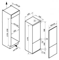 Холодильник Maunfeld MBF177NFWH белый (двухкамерный)