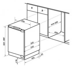 Холодильник Maunfeld MBF88SW белый (двухкамерный)