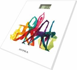 Весы напольные электронные Supra BSS-2001N рисунок/белый