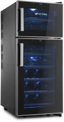 Винный шкаф Kitfort KT-2407 черный (двухкамерный)