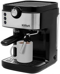 Кофеварка эспрессо Kitfort KT-742 черный/серебристый