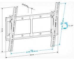 Кронштейн для телевизора Holder LCD-T4609 черный 32 -65 макс.60кг настенный наклон