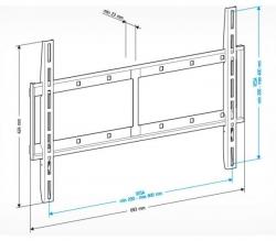 Кронштейн для телевизора Holder LCD-F6607 черный 42 -65 макс.60кг настенный фиксированный
