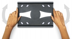 Кронштейн для телевизора Holder LCDS-5010 черный металлик 20 -40 макс.45кг настенный наклон