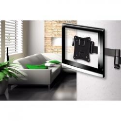 Кронштейн для телевизора Hama H-108723 черный 10-26 макс.25кг настенный поворотно-выдвижной и наклонный