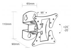 Кронштейн для телевизора Arm Media LCD-101 черный 10 -26 макс.30кг настенный поворот и наклон