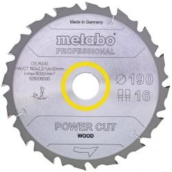 Диск отрезной по дер. Metabo POWER CUT WOOD PROFESSIONAL (628292000) d=165мм d(посад.)=20мм (циркулярные пилы) (упак.:1шт)