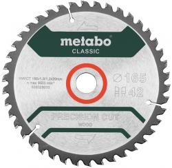 Диск отрезной по дер. Metabo PRECISION CUT WOOD CLASSIC (628026000) d=165мм d(посад.)=20мм (циркулярные пилы) (упак.:1шт)