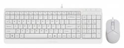Клавиатура + мышь A4Tech Fstyler F1512 белый