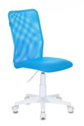Кресло детское Бюрократ KD-9 голубой TW-31 TW-55 сетка/ткань крестовина пластик пластик белый