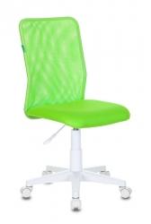 Кресло детское Бюрократ KD-9 салатовый TW-03А TW-18 сетка/ткань крестовина пластик пластик белый