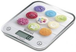 Весы кухонные электронные Tefal BC5122V1 белый/рисунок