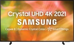 Телевизор LED Samsung UE85AU8000UXRU черный