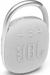 Колонка порт. JBL Clip 4 белый 5W 1.0 BT 15м 500mAh (JBLCLIP4WHT)
