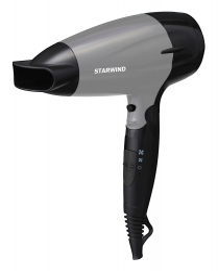 Фен Starwind SHD 6110 2000Вт черный/серебристый