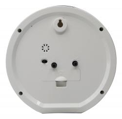 Будильник аналоговые Бюрократ Alarm-R15P D15см черный/белый