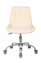 Кресло Бюрократ CH-350SL светло-бежевый искусст.кожа/ткань крестовина металл хром