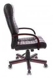 Кресло руководителя Бюрократ KB-10WALNUT черный искусственная кожа крестовина металл/дерево