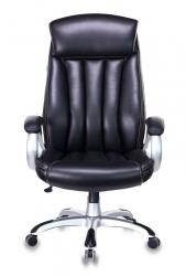 Кресло руководителя Бюрократ T-9922 черный Leather Venge Black искусственная кожа крестовина пластик пластик серебро