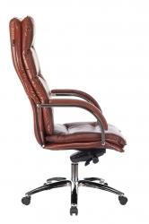 Кресло руководителя Бюрократ T-9927SL светло-коричневый Leather Eichel кожа крестовина металл хром