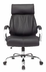 Кресло руководителя Бюрократ T-9904NSL черный Leather Venge Black искусственная кожа крестовина металл хром