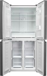 Холодильник Weissgauff WCD 337 NFB черное стекло